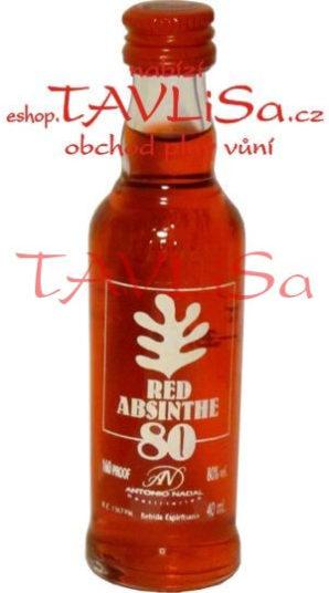 Absinth Red 80% 40ml Antonio Nadal miniatura
