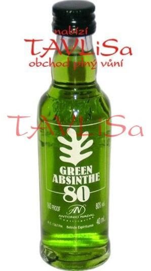 Absinth Green 80% 40ml Antonio Nadal miniatura