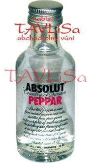 vodka Absolut Peppar 40% 50ml miniatura
