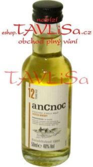 whisky anCnoc 12 Years 40% 50ml miniatura