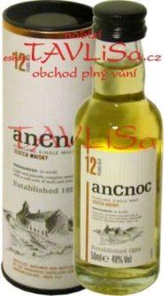 whisky anCnoc 12 Years 40% 50ml Tuba miniatura