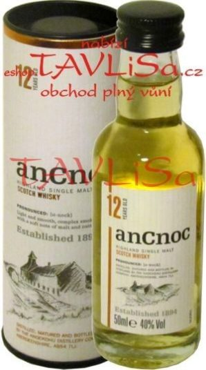 whisky anCnoc 12 Years 40% 50ml Tuba miniatura