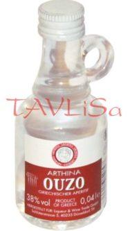 Arthina Ouzo Greece 38% 40ml miniatura