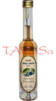 Áfonya Pálinka 50% 40ml Bolyhos Miniatura