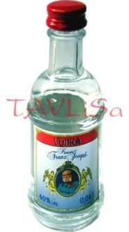 Vodka Kaiser Franz Joseph clear 40% 40ml miniatura