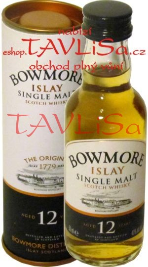 Whisky Bowmore 12 Years 40% 50ml Tuba miniatura