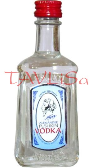 Vodka Alexander Pushkin clear 40% 40ml miniatura