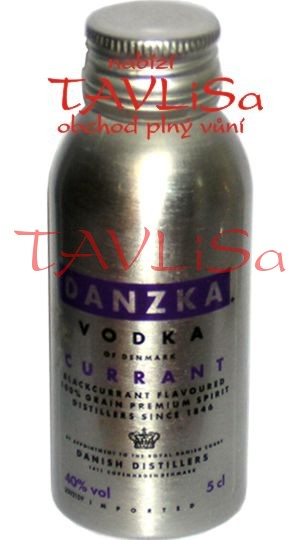 vodka Black Currant 40% 50ml Danzka miniatura