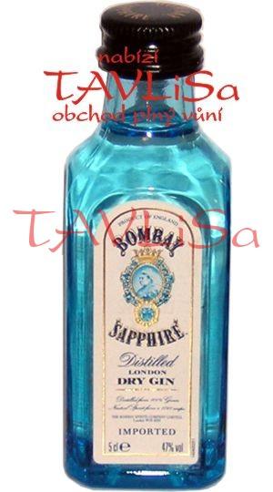 Gin Bombay Sapphire 47% 50ml miniatura