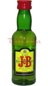 Whisky J&B 40% 50ml etik2 Scotland miniatura
