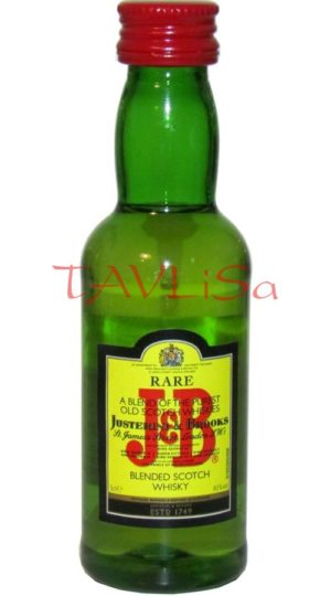 Whisky J&B 40% 50ml etik2 Scotland miniatura