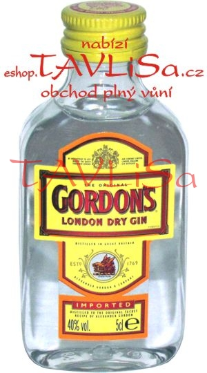 Gin Gordons London Dry 40% 50ml miniatura