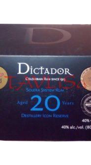 Rum Dictador 20 Years 40% 50ml x12 ks miniatur
