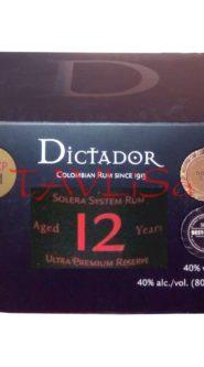 Rum Dictador 12 Years 40% 50ml x12 ks miniatur
